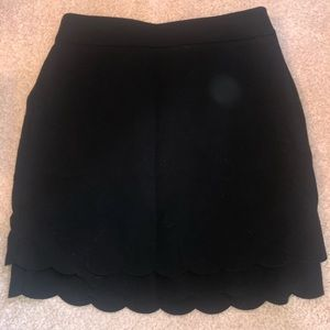 Loft Scalloped Pencil Skirt